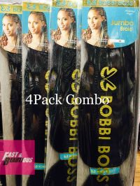 bobbi boss jumbo braiding hair 4packs bobbi boss 100