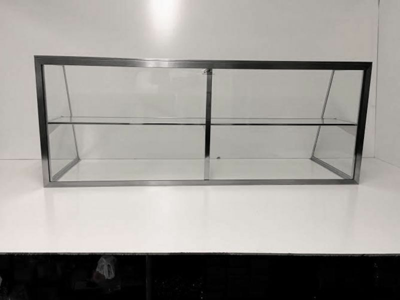 CARIB DISPLAY GLASS SNEEZE GUARD FOR STEAM TABLE4FT OR