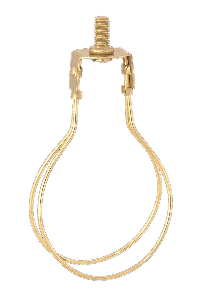 BRASS FINISH CLIP ON ADAPTER FOR LAMP SHADE