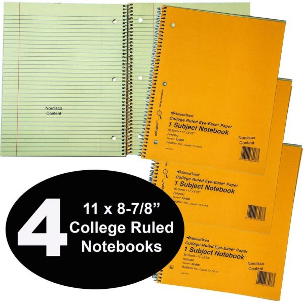 National Brand 33-068 College Ruled Notebooks 80 Sheet