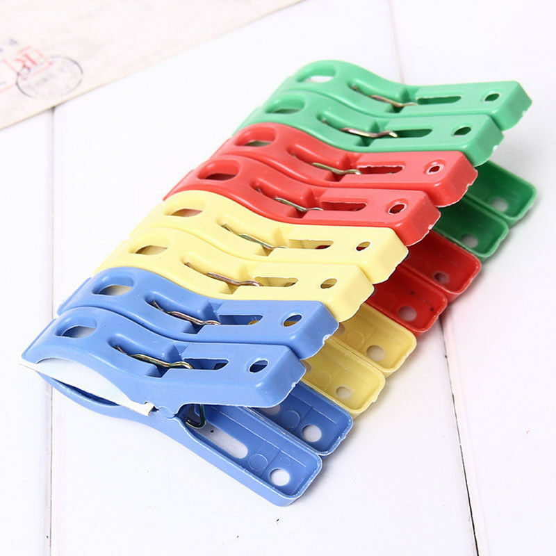 Set of 8 Beach Towel Clips in Fun Bright Colors Prevents