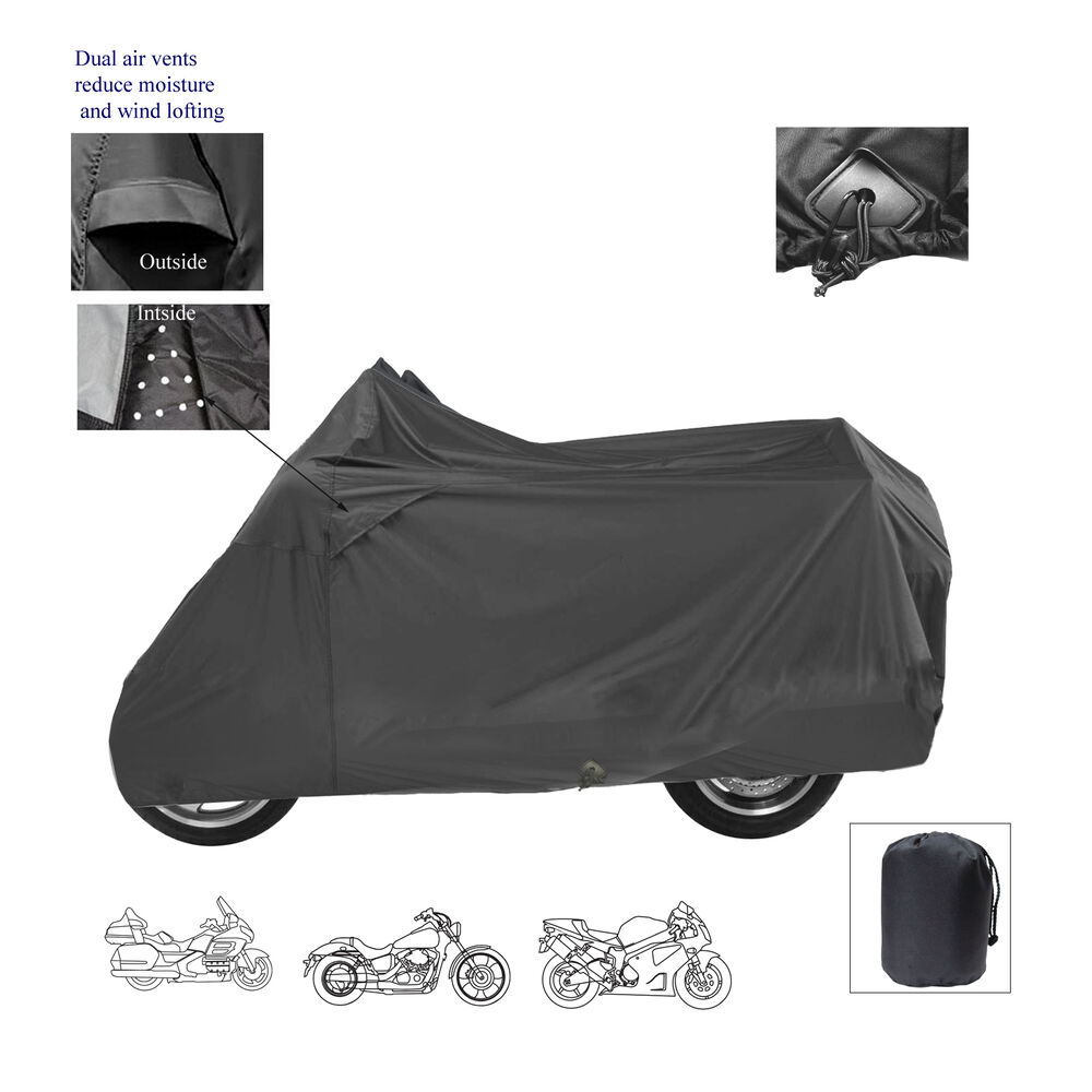 hight resolution of details about ice bear powersports deluxe motorcycle scooter bike all weather storage cover