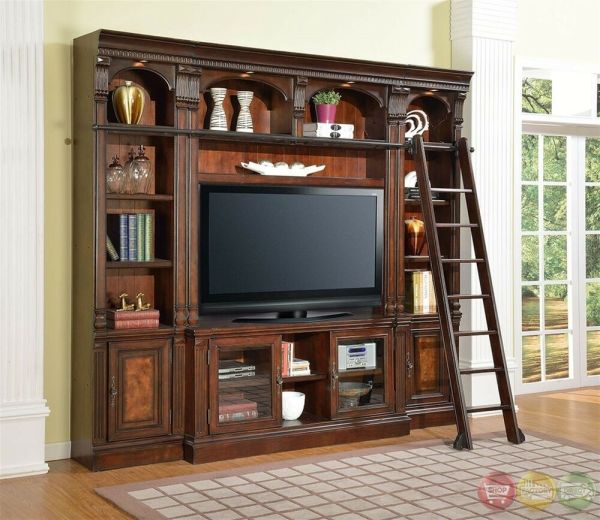 Corsica Library Wall Unit 60 Tv Stand Space Saver Entertainment Center