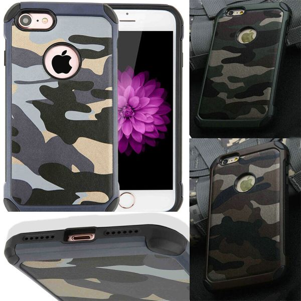 Hybrid Army Camouflage Camo Hard Phone Case Cover