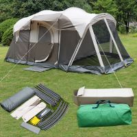 6 Person 3 Room Waterproof Camping Tent Double Layer