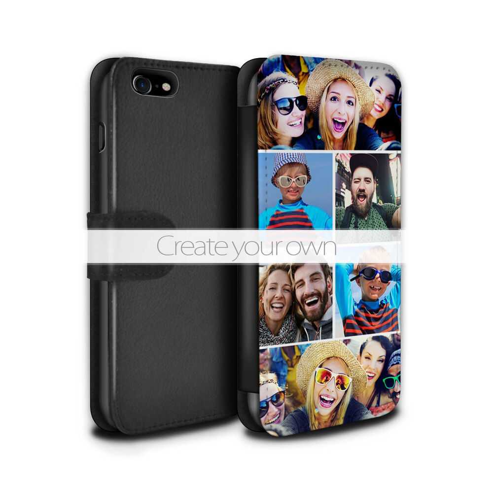 Create Your Own Design Personal PU Leather CaseWallet for Apple iPhone 7 Plus  eBay