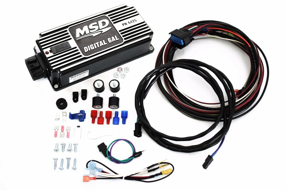 Black Msd 6al Digital Ignition Box W Built In Rev Limiter
