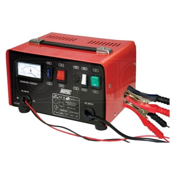 Maypole 12a Metal Battery Charger - 12v 24v Fast Charge Boost Car Van