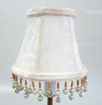 Cream Damask Chandelier Mini Lamp Shades Softback with ...