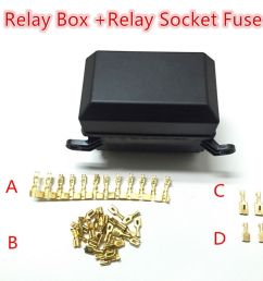 details about 5 way automotive relay holder box relay socket fuse waterproof lid insurance [ 1000 x 1000 Pixel ]