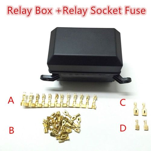 small resolution of details about 5 way automotive relay holder box relay socket fuse waterproof lid insurance