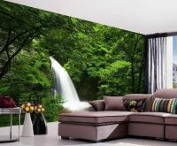 Deep Forest Waterfall Nature Full Wall Mural Photo ...