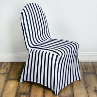Black and White Striped Spandex Stretchable CHAIR COVERS ...