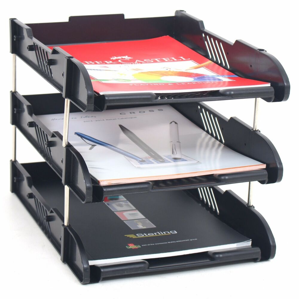 Office Filing Trays Letter Rack Desk Organiser Paper A4