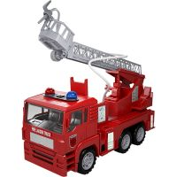 Fire Rescue Truck Car Water Hose Rotating Ladder Shooting ...