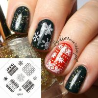 Christmas Reindeer Sweater Snow Nail Art Stamp Decals ...