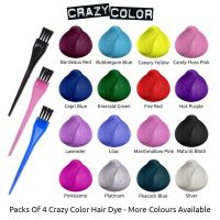 Crazy Color Semi Permanent Hair Dye By Renbow X4 100ml