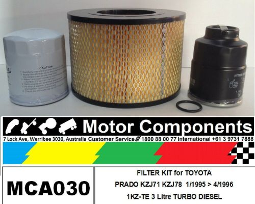 small resolution of details about filter kit air oil fuel for toyota prado kzj71 kzj78 1kz te turbo diesel 95 96
