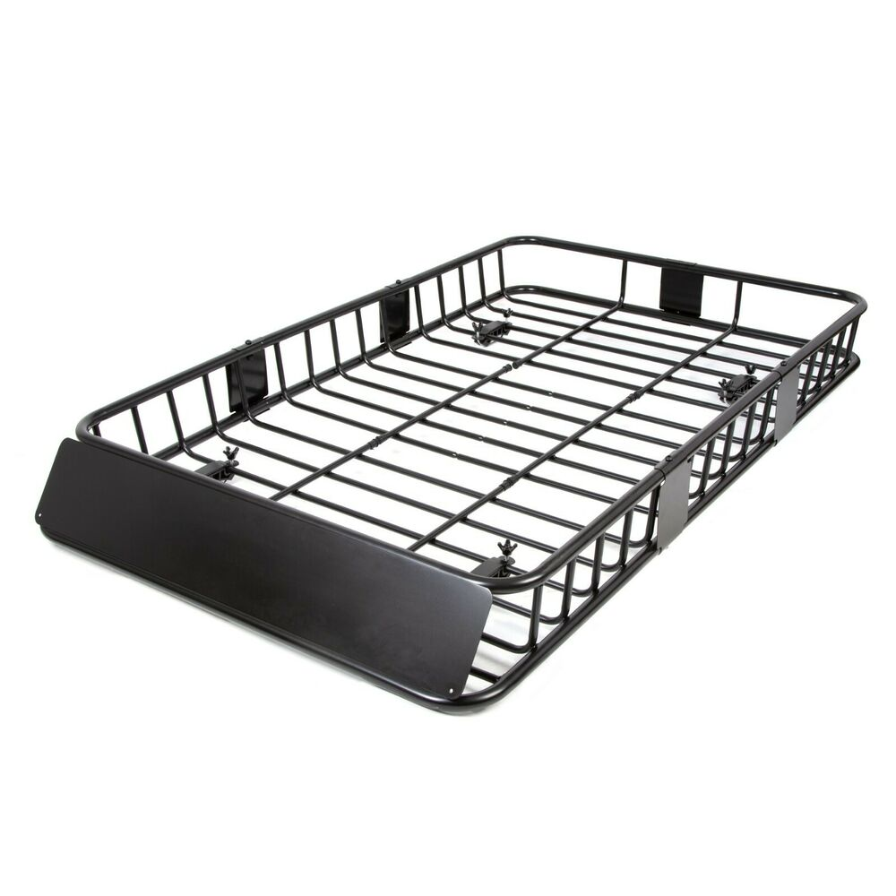 64'' Roof Rack Cargo Top Luggage Holder Carrier Basket w