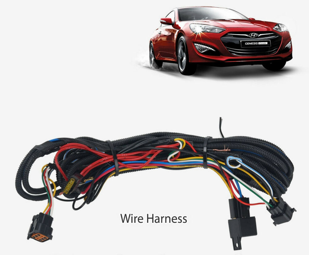 hight resolution of details about wiring harness led fog lamp light kit only for hyundai genesis coupe 2013 2016