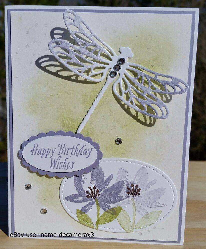 STAMPIN UP DRAGONFLY DREAMS HAPPY BIRTHDAY THANK YOU