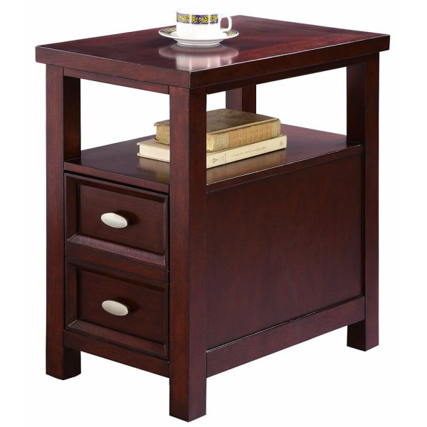 Wood Night Stand End Table with Storage