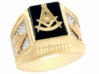 10k / 14k Two Tone Real Gold Past Master Freemason Masonic ...