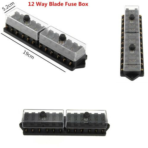 small resolution of details about 12 way mini blade fuse box holder circuit caravan campervan boat 12v universal