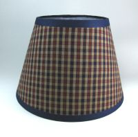 Country Primitive Navy Star Button Paper Lampshade Lamp