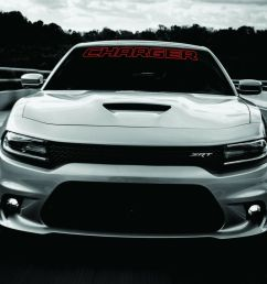 details about dodge charger windshield banner decal 2011 2017 hemi rt sxt ralleye v6 v8 [ 1000 x 884 Pixel ]