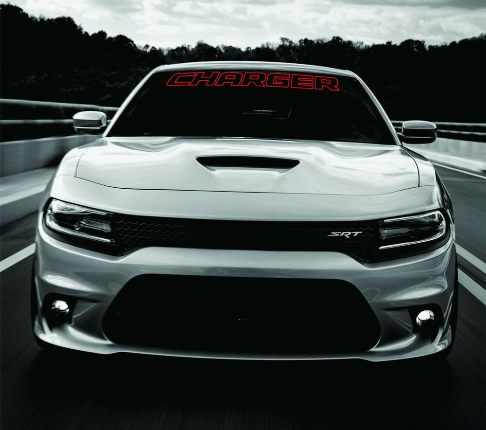 hight resolution of details about dodge charger windshield banner decal 2011 2017 hemi rt sxt ralleye v6 v8