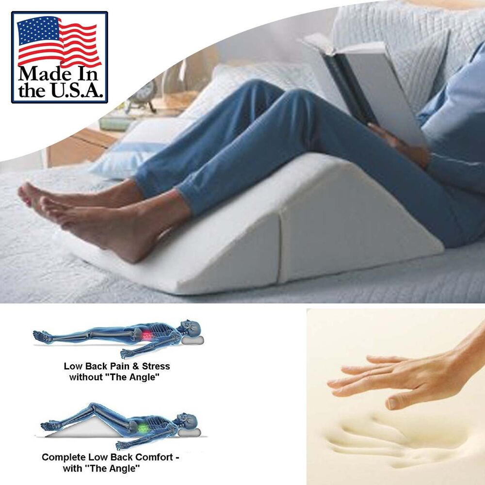 office chair support for pregnancy serta computer bed wedge pillow memory foam reduce back pain immediately - made in usa | ebay