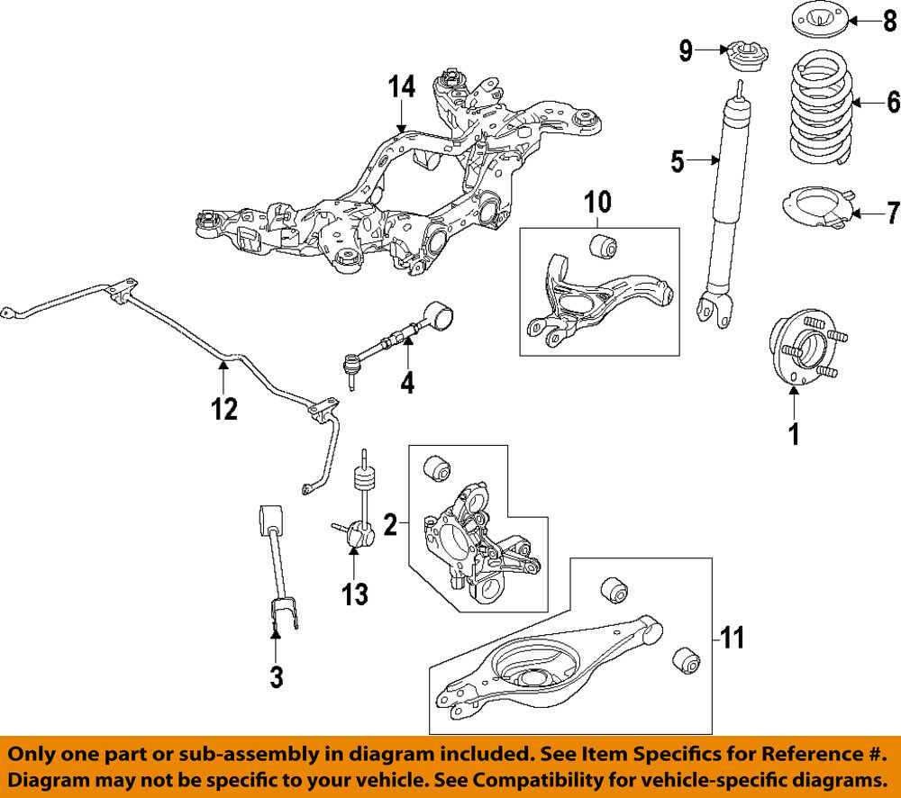 hight resolution of details about ford oem 13 15 taurus rear shock absorber or strut dg1z18125a