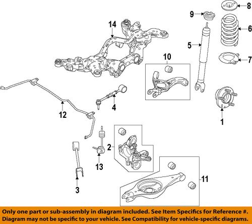 small resolution of details about ford oem 13 15 taurus rear shock absorber or strut dg1z18125a