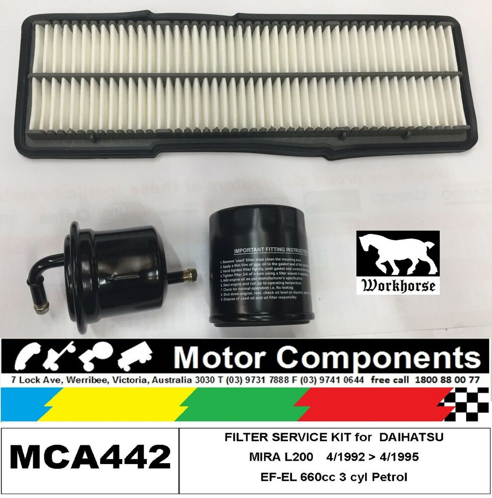 hight resolution of details about filter service kit oil air fuel for daihatsu mira l200 ef el 660cc 1992 95