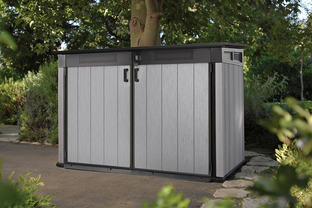 Keter Grande Brushed Shed Store Garden Storage Bike