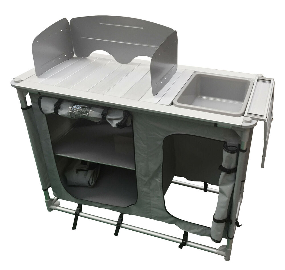 ALUMINIUM super light CAMPING KITCHEN WITH SINK  BOWL in