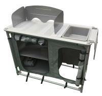 ALUMINIUM super light CAMPING KITCHEN WITH SINK + BOWL in ...