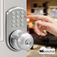 Keyless Door Lock - MiLocks Electronic Touchpad Keypad ...