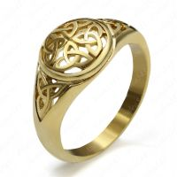 Ladies Gold Celtic Knot Trinity Triquetra Stainless Steel ...