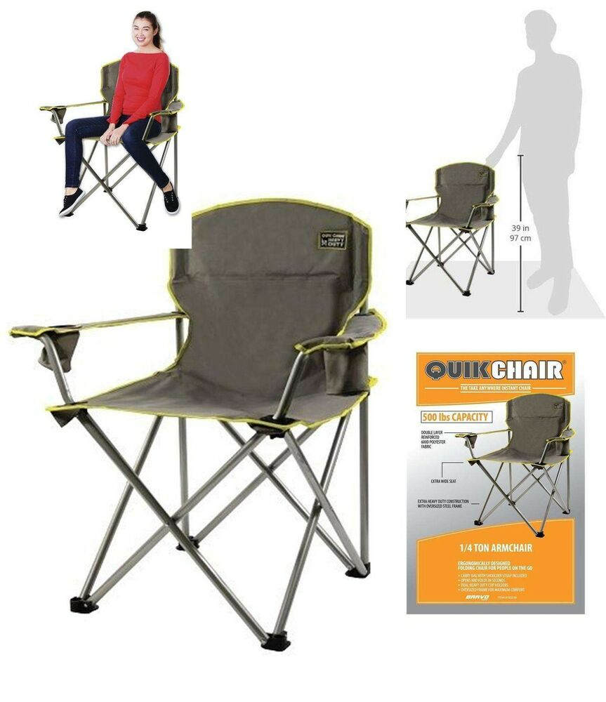 Heavy Duty Folding Camp Chair Outdoor 500LBS Oversized