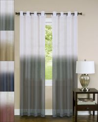 Essence Two-Tone Sheer Ombre Decorative 52 x 84 Window ...