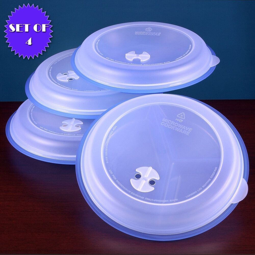 MICROWAVE DIVIDED PLATES WITH VENTED LIDS