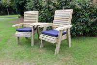 Wooden Love Seats Connecting Chair Set Jack And Jill Seat ...