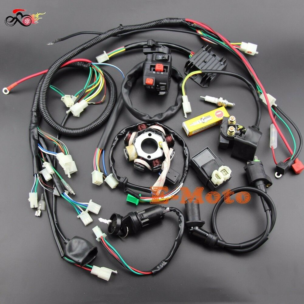 hight resolution of buggy wiring harness loom gy6 engine 125 150cc quad atv go kart kandi go kart