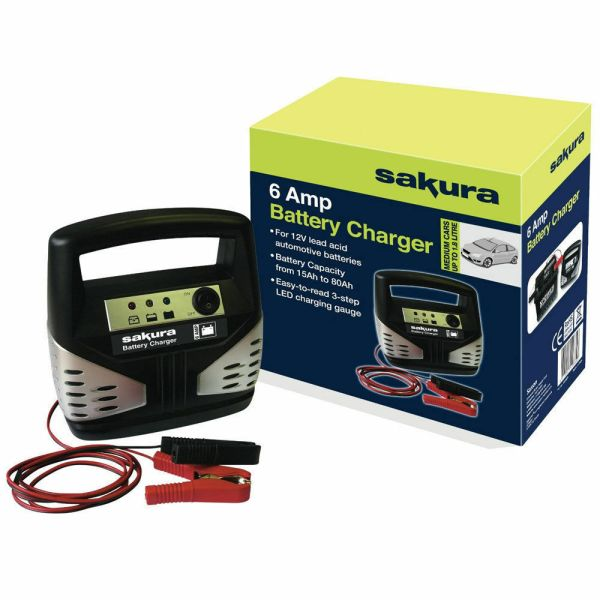 6 12 Volt Car Battery Chargers