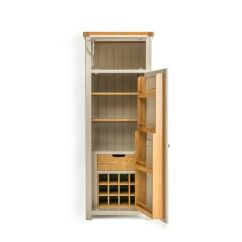 Kitchen Freestanding Pantry Aid Cover Padstow Grey Larder Unit / Solid Wood Painted Small ...
