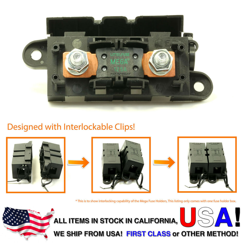 hight resolution of 125 amp fuse box wiring diagramlittlefuse expandable mega fuse holder with 125a megafuse 125 ampdetails about
