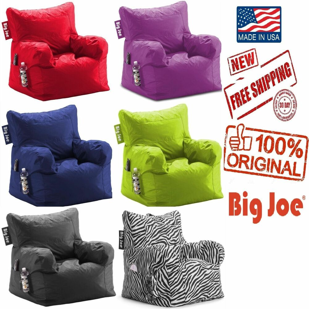 big joe milano bean bag chair high accessories dorm kids seat furniture sofa tv video games room lounge | ebay