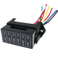 details about car trailers 6 way circuit middle sized blade fuse box distribution block [ 1000 x 1000 Pixel ]